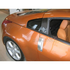 CARBON FIBER EXTERIOR DOOR PILLAR TRIMS NISSAN 350Z