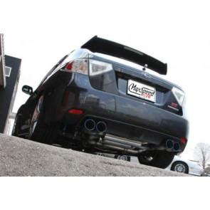EXHAUST MAXSPEED SUBARU STI 08-12  Hatchback GTR