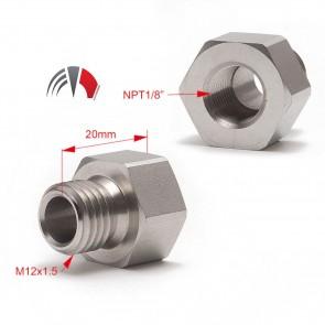 Sensore Adapter Oil Water Pressure Temp M12/M14/20 x1.5-1/8NPT