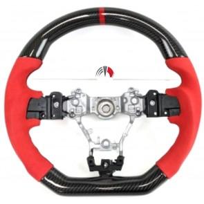 Carbon Alcantara Red Steering Wheel Subaru sti 2014/19