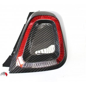 Carbon Tail Light Cover 500 Abarth 595