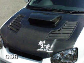 CHARGE-SPEED CARBON HOOD Impreza GDB