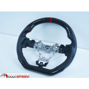 Steering Wheel Carbon Leather  Subaru WRX STI + Leverg 2015/19