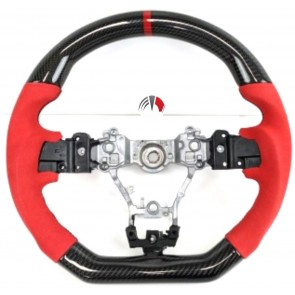 Carbon Alcantara Red Steering Wheel Subaru sti 2014/19